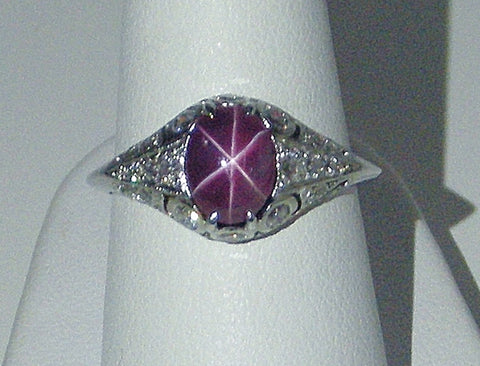 Star ruby in platinum