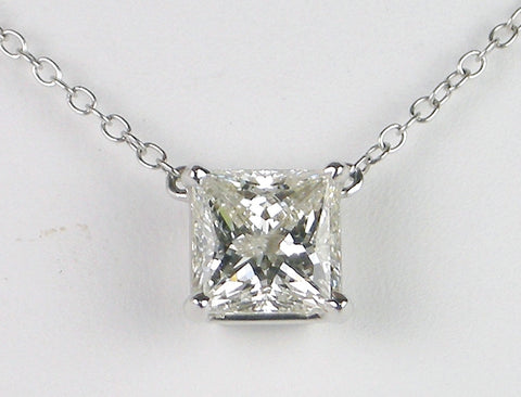 2.59 carat Princess cut diamond