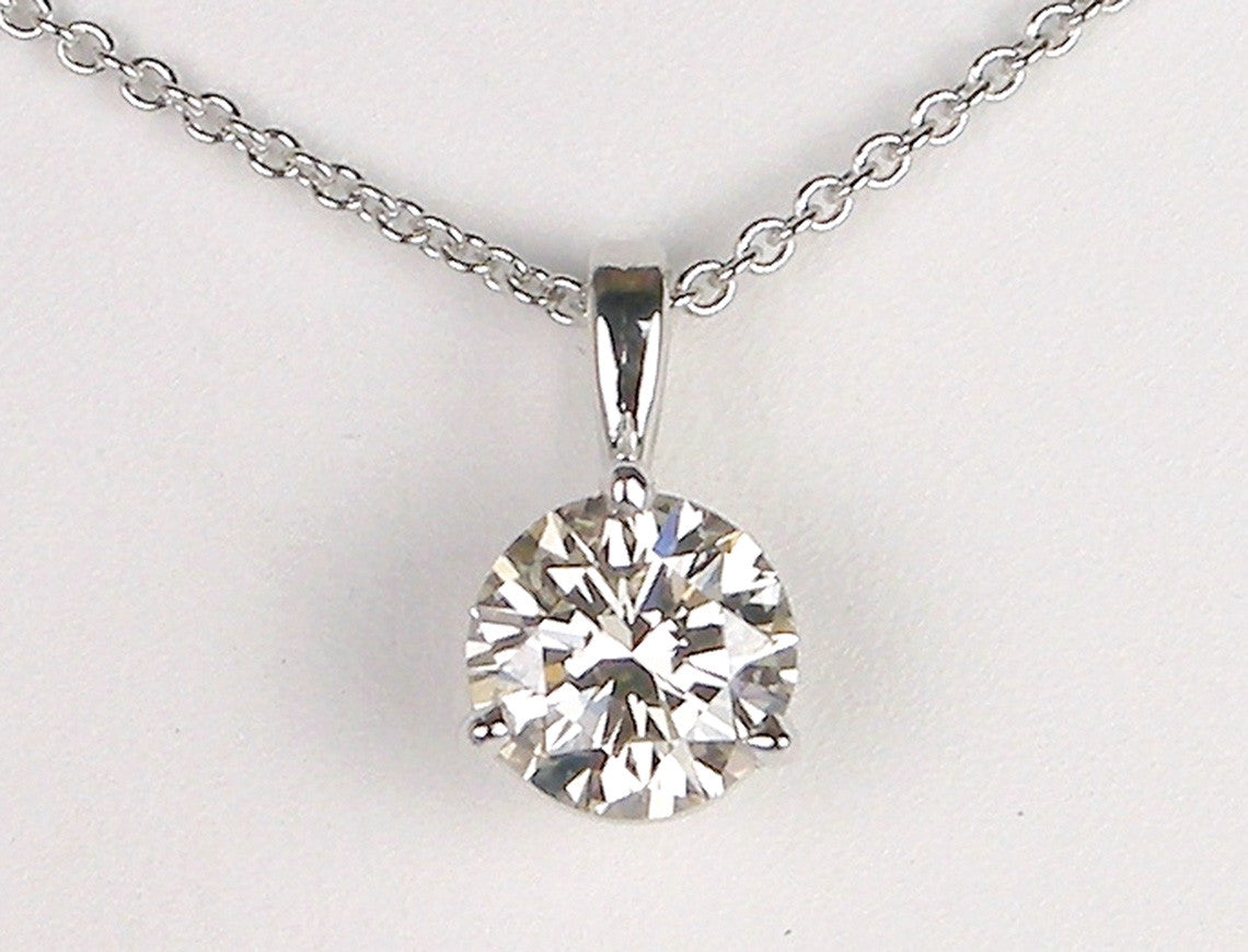1.58 carat diamond pendant
