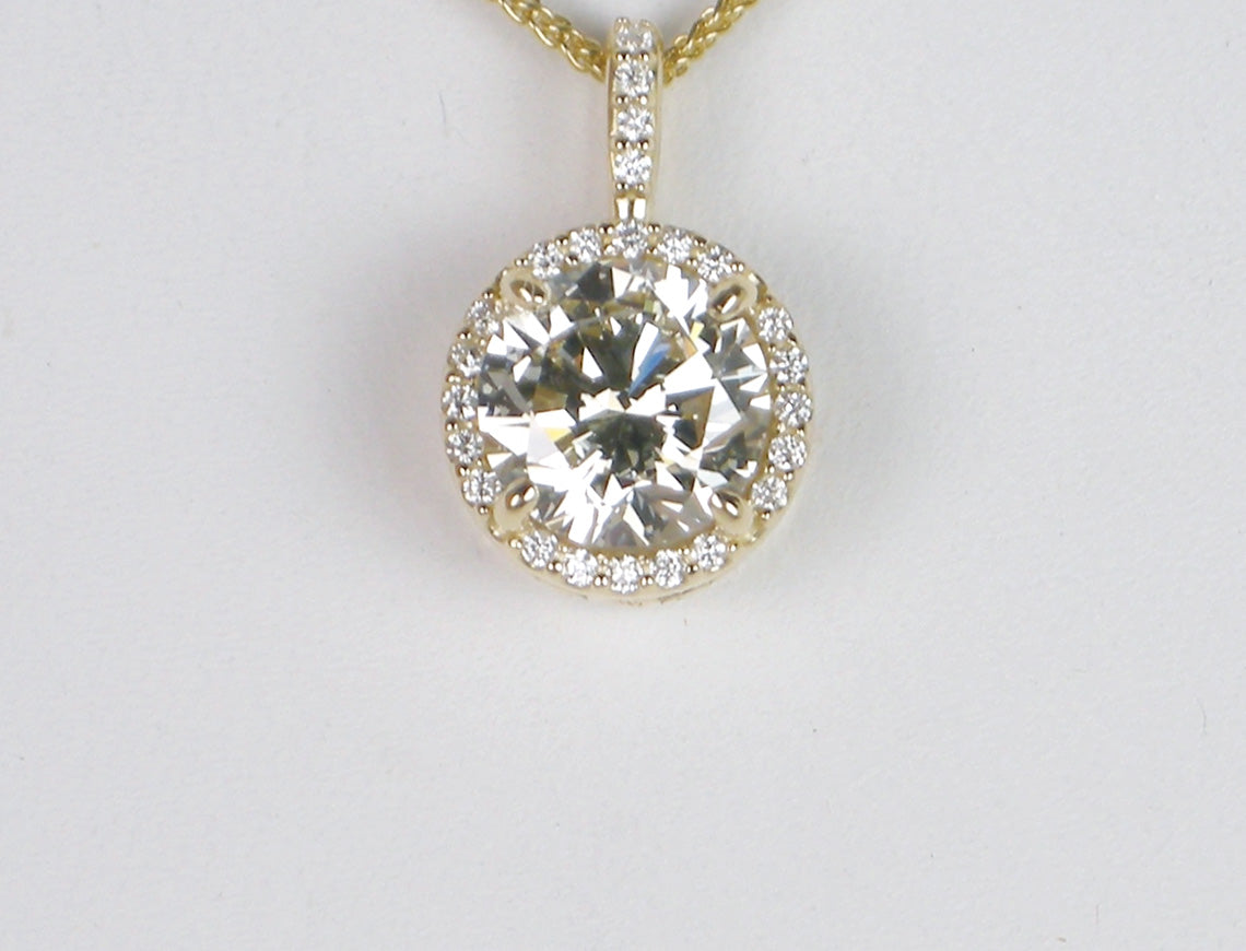 2.01 carat diamond pendant