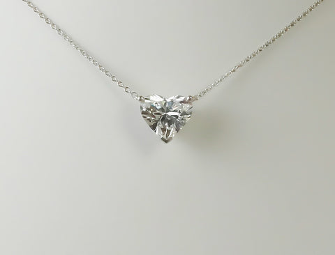 3.13 carat heart-shaped diamond pendant by Tiffany