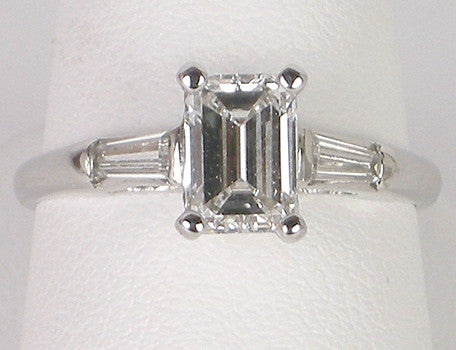 1.05 carat E VS2 Emerald Cut