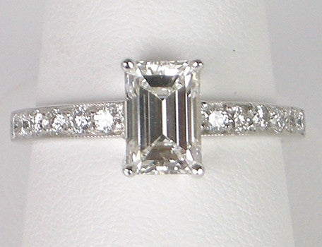 1.25 G VS1 Emerald Cut Diamond Ring
