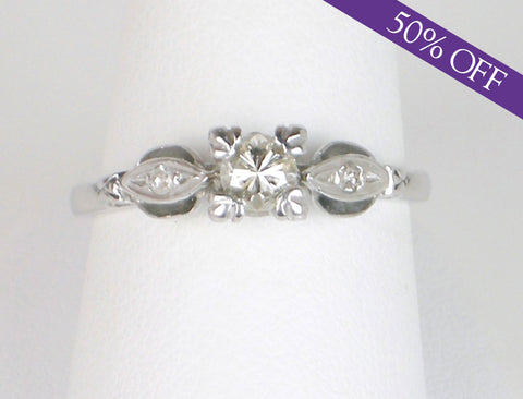 Sweet and petite vintage engagement ring - ORIGINAL PRICE $750