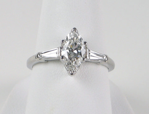 D color 1.02 carat marquise diamond