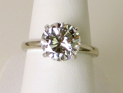 3.41 carat diamond solitaire