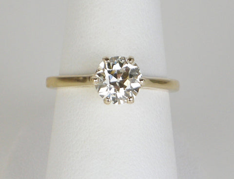 Vintage 1.31 carat European cut ring