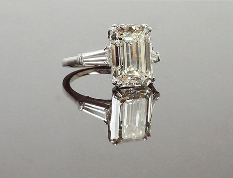 "6.69 carat emerald cut with ""Excellent"" cut"