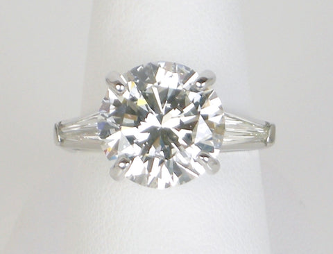 5.38 carat I SI1 engagement ring