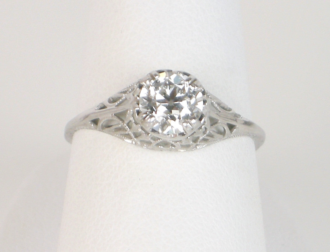 Vintage filigree diamond ring