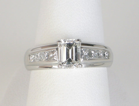 .89 carat emerald cut ring