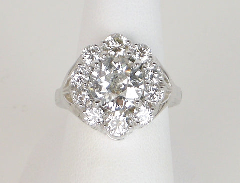2.11 carat European cut diamond
