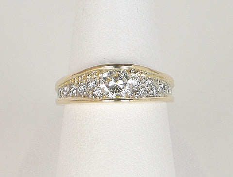.43 carat diamond in pave setting