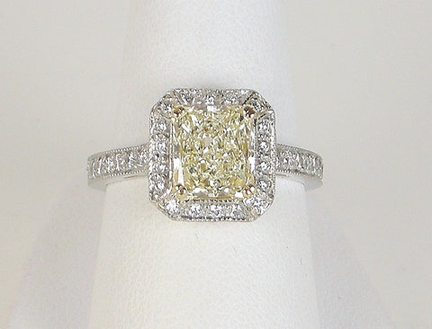 1.87 carat radiant cut diamond