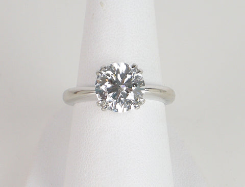 2.68 carat round brilliant diamond