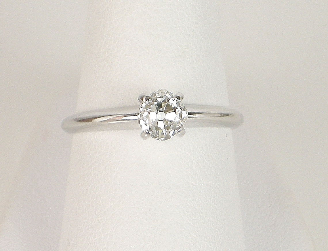 Classic old mine cut diamond ring