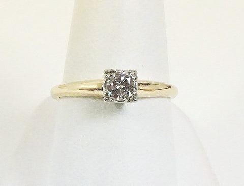 Sweet vintage engagement ring