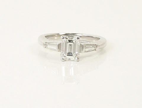 1.19 carat emerald cut ring