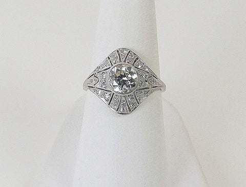 Platinum Edwardian ring