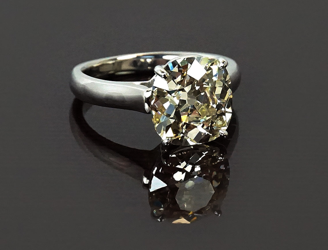 4.28 carat Old Mine cushion cut diamond