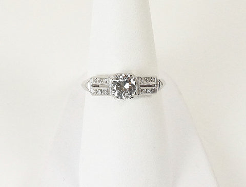 Vintage platinum engagement ring