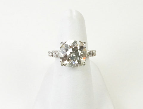 6.68 carat European cut ring