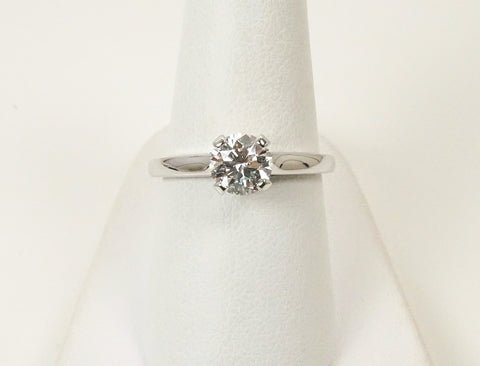 1.02 carat AGS Ideal Cut diamond solitaire