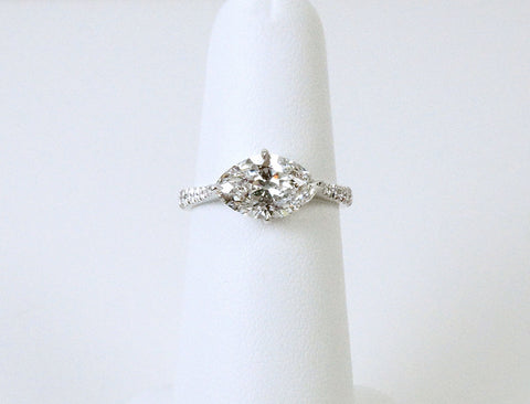 1.89 marquise diamond in custom platinum setting