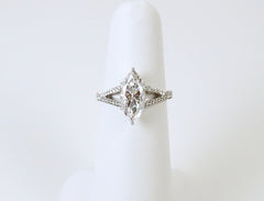 2.13 carat marquise diamond in platinum