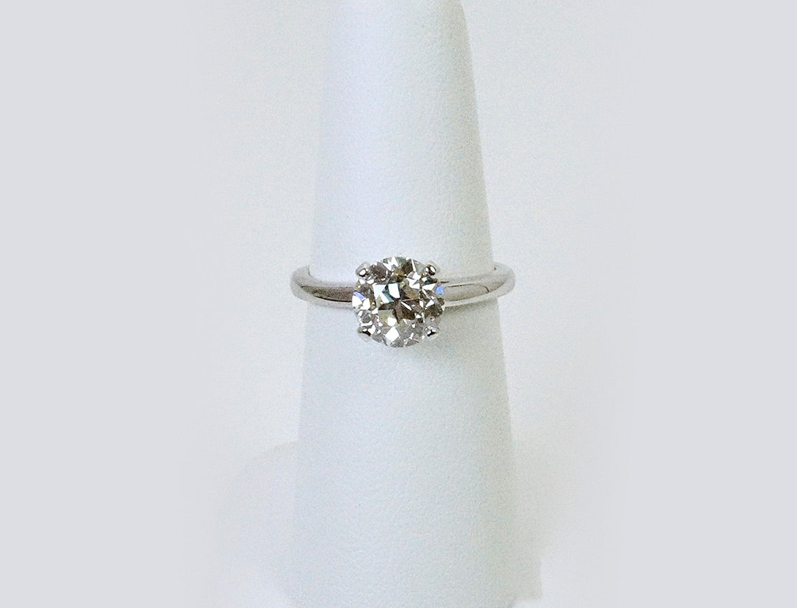 Exceptionally bright Old European Cut solitaire