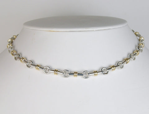 Gold and silver bit motif necklace by Tiffany