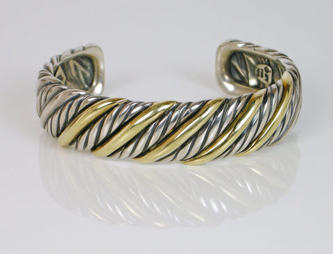 Silver and 18K gold cuff by David Yurman