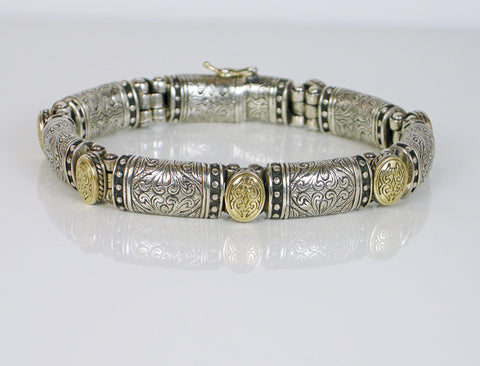 Silver and gold bracelet by Konstantino