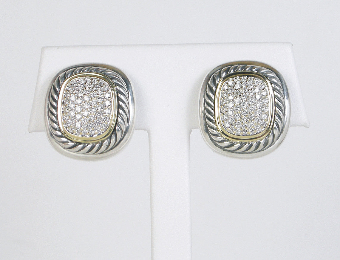 "Pave ""Albion"" earrings by Yurman"