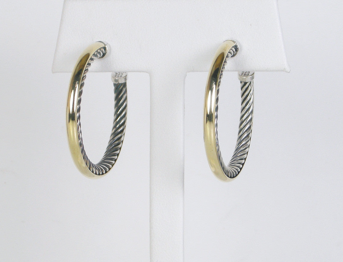 """Cable Inside"" hoops by Yurman"