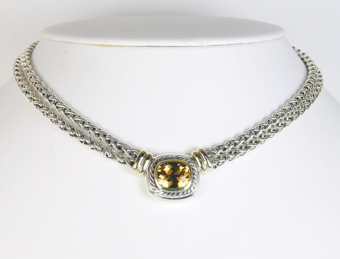Citrine necklace by David Yurman