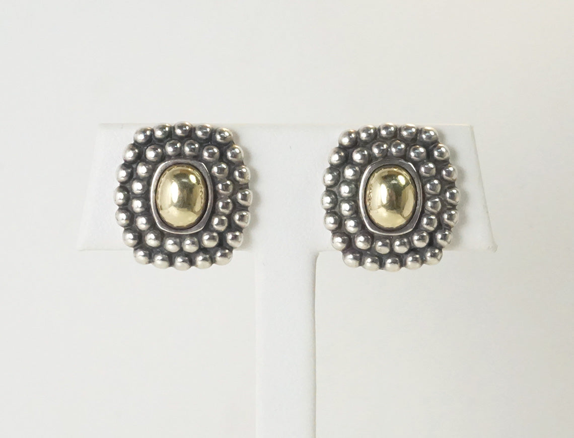"""Caviar"" earrings by Lagos"