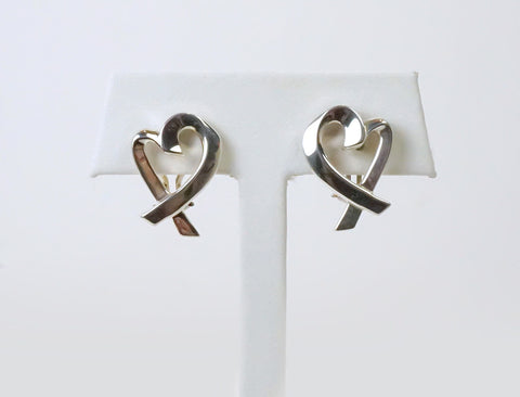 "Sterling ""Loving Heart"" earrings by Tiffany"