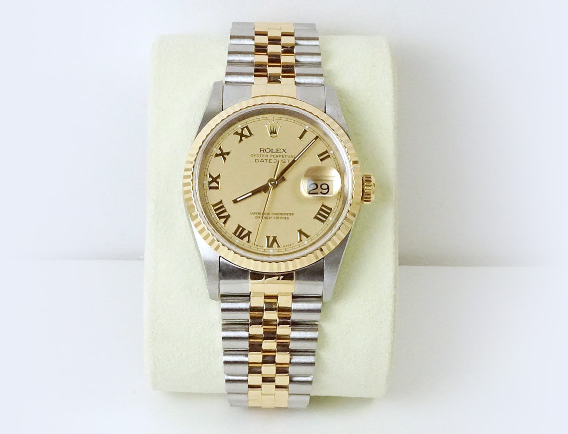 Rolex DateJust with Champagne dial
