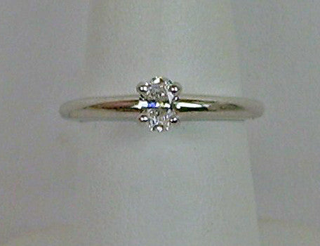 Petite oval diamond ring