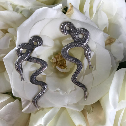 Infinity Snake Earrings