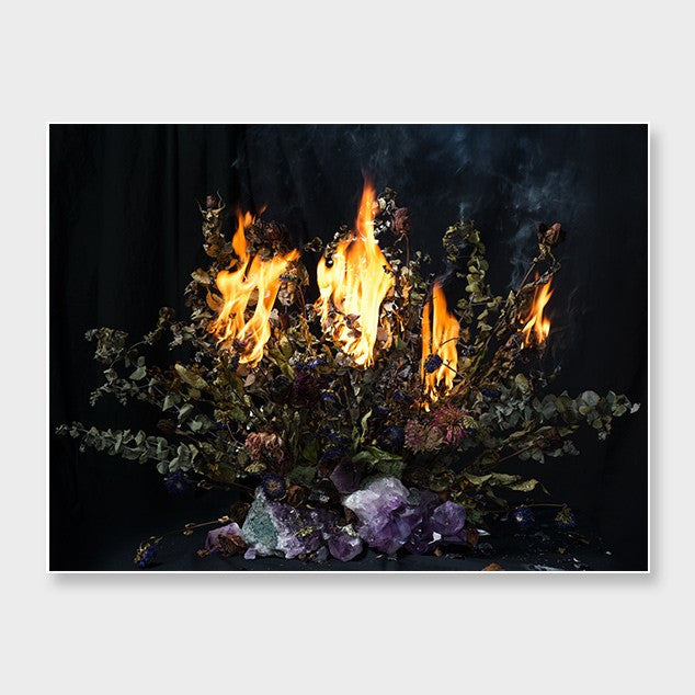 Burning Flowers with Amethyst