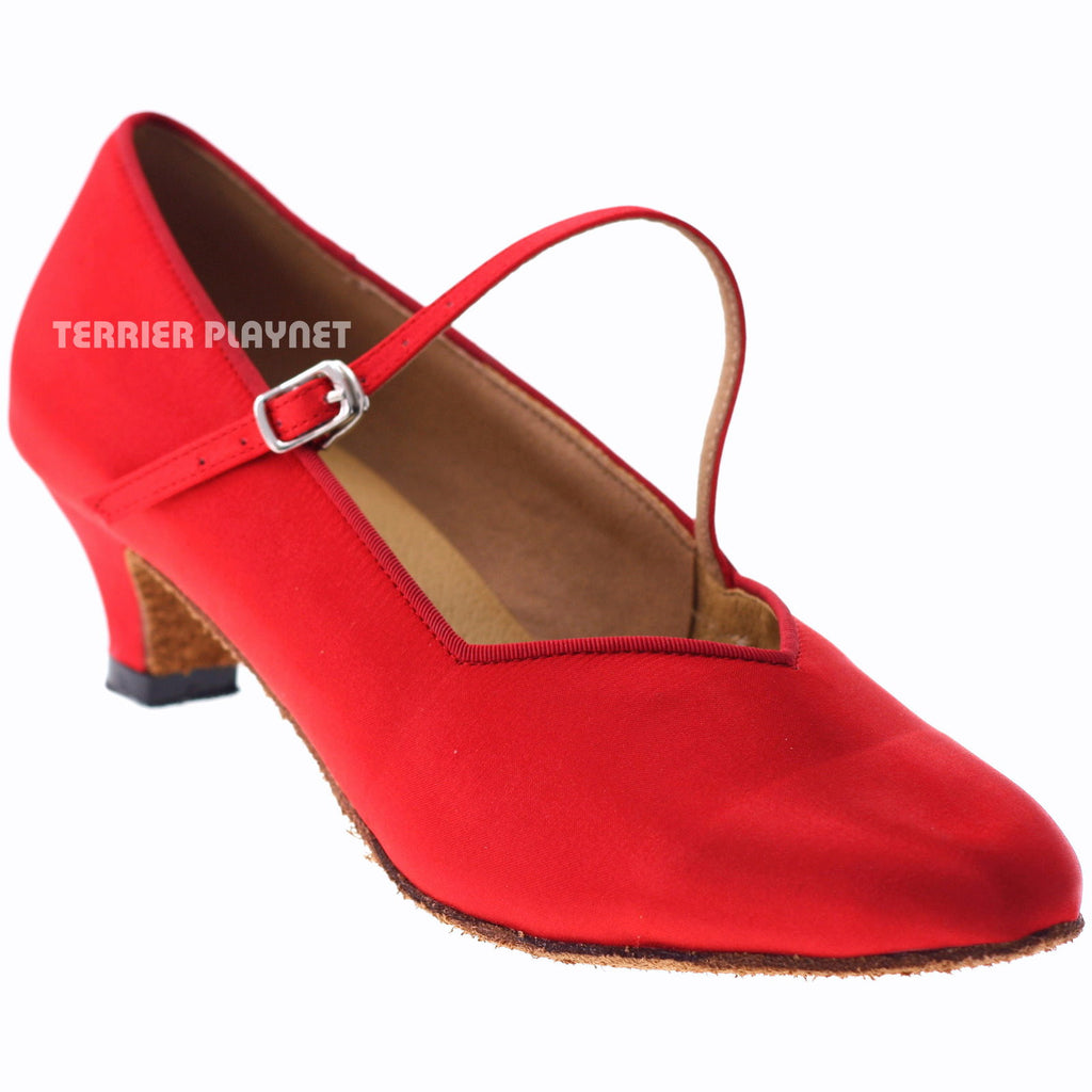 Red Women Dance Shoes D1017 - Terrier Playnet Shop