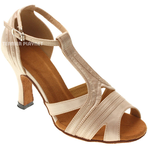 Cream Women Dance Shoes D1019