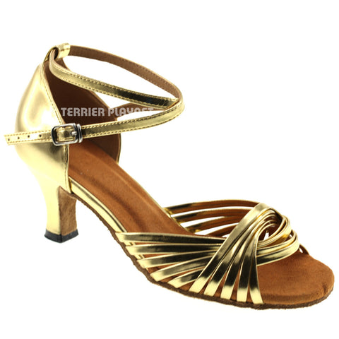 Gold Women Dance Shoes D101