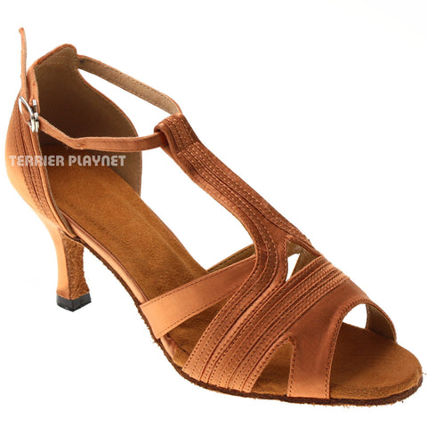 Tan Women Dance Shoes D1021