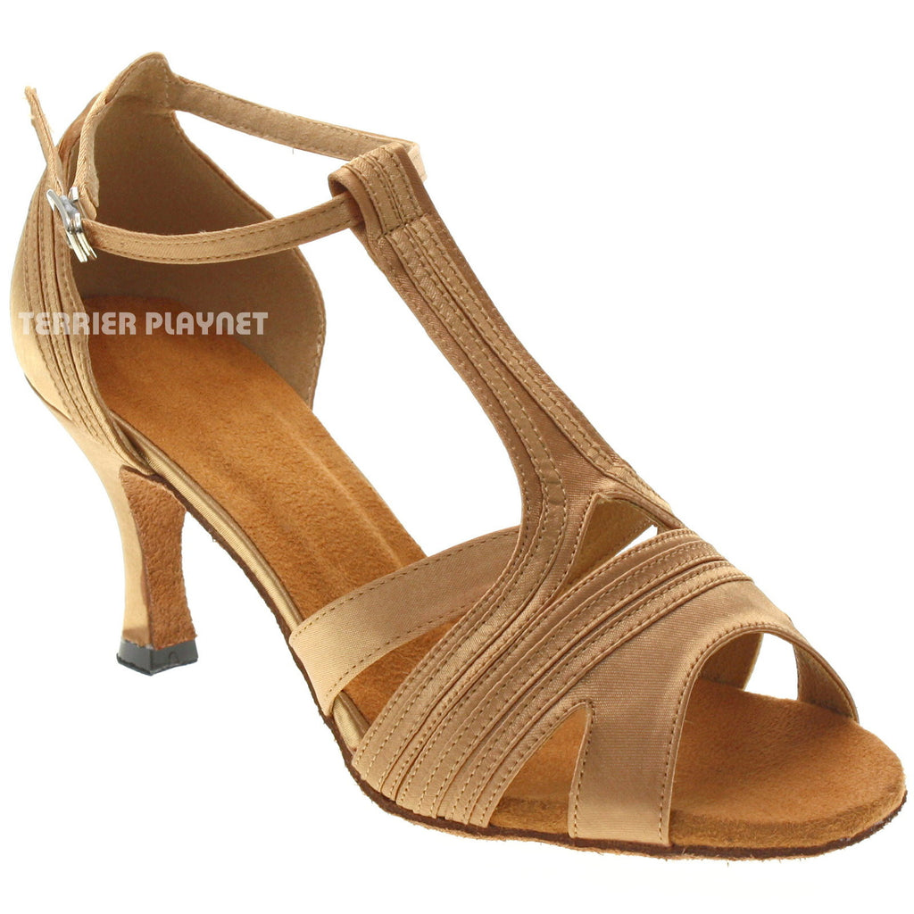 Gold Women Dance Shoes D1025 - Terrier Playnet Shop
