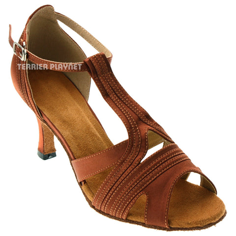 Dark Tan Women Dance Shoes D1026
