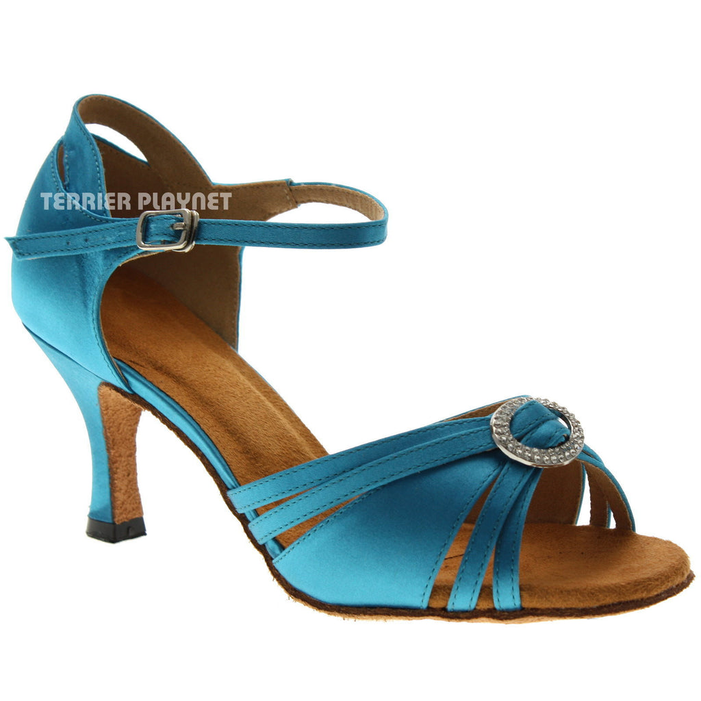 Light Blue Women Dance Shoes D1027