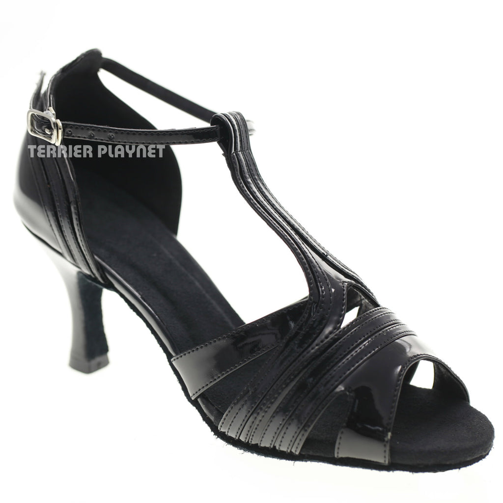 Black Women Dance Shoes D1031 - Terrier Playnet Shop